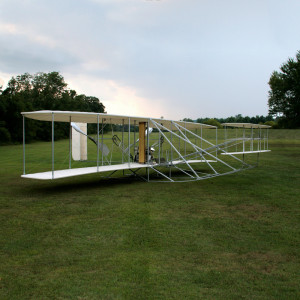 Photo of Ken Hyde's reproduction 1908 Wright Flyer