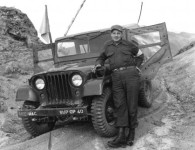 PFC Wise, Korea, 1953.  The jeep belongs to the United Nations Command.