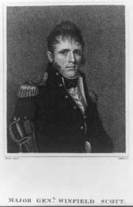 Winfield Scott was brevetted a major general for valorous action during the battle of Lundy Lane in late July 1814.