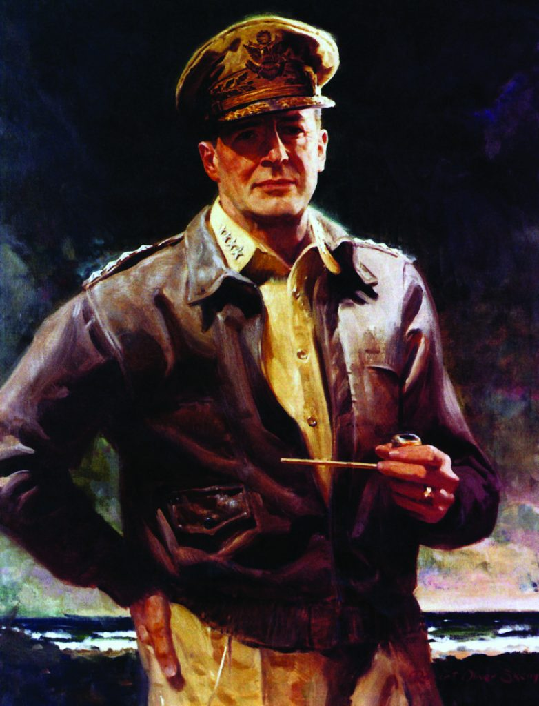 85 yrs - OIL-PAINTING-ON-CANVAS-GENERAL-font-b-DOUGLAS-b-font-font-b-MACARTHUR-b-font-