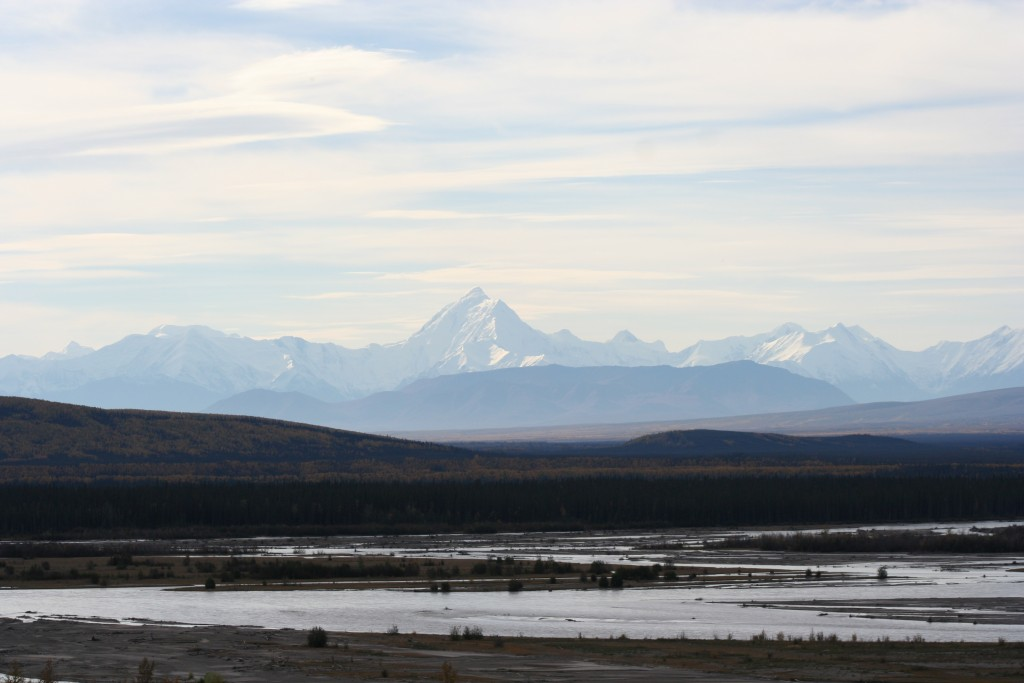 Alaska Range from Tanana River
