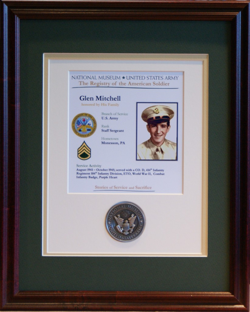 Registry of the American Soldier Plaque