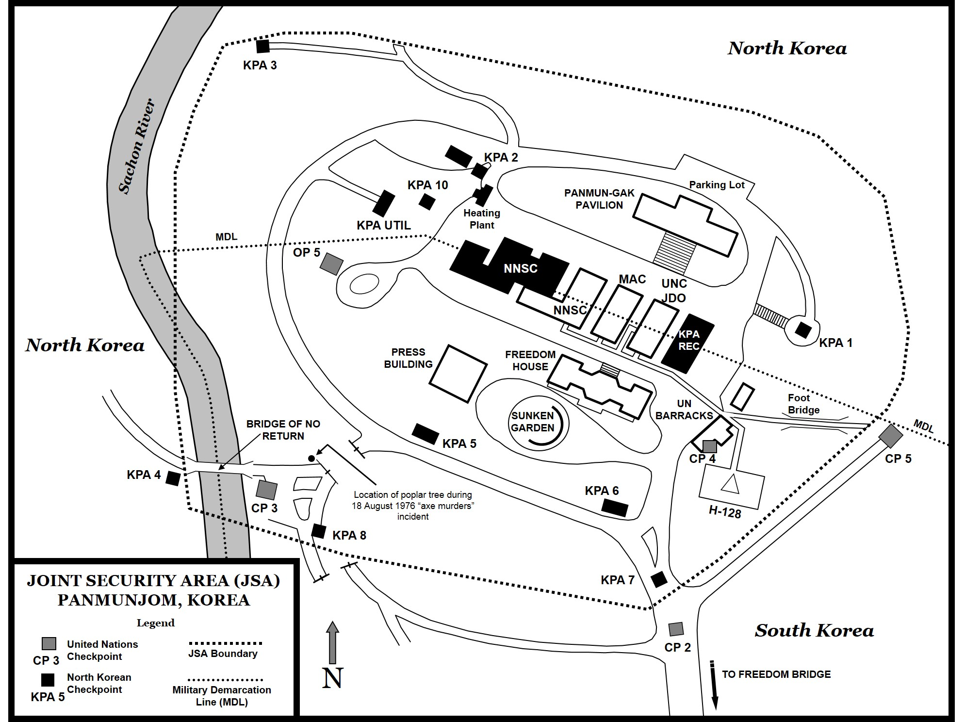 This map shows the jsa at panmunjom in 1984 map by steve clay
