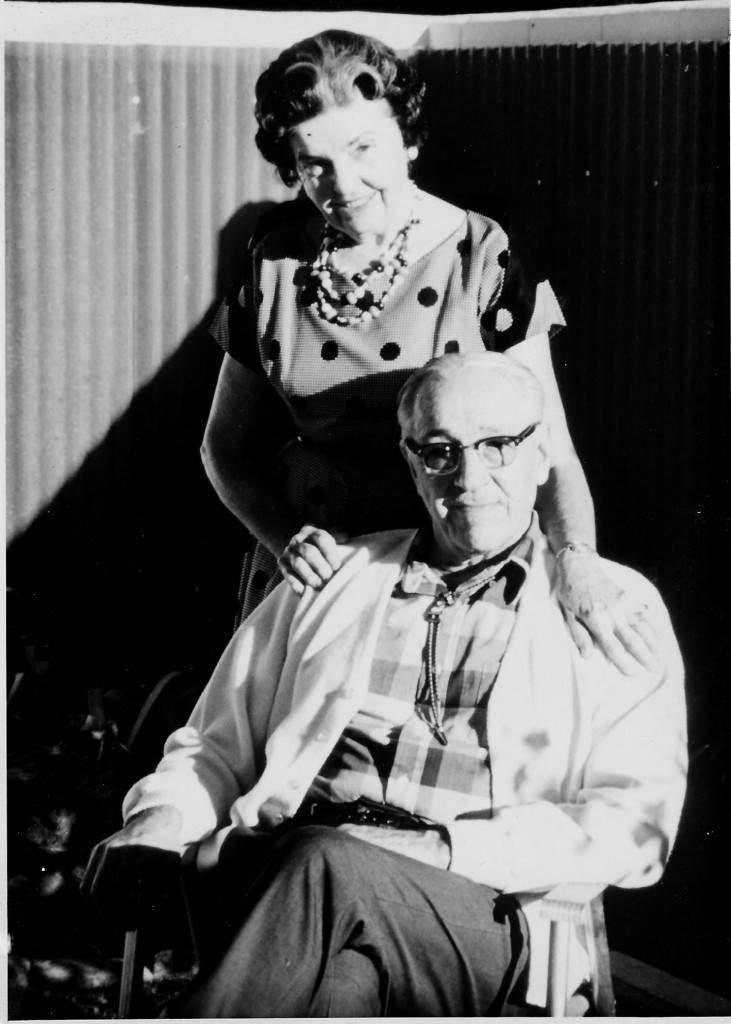 Ralph Moan is shown here with second wife Kathreen is his later years. After her husband's death in 1982, Kathreen donated his diary and a poem he wrote about his war experiences to the U.S. Army Military History Institute at Carlisle Barracks, Pennsylvania. (Photograph courtesy of the Ralph T. Moan Family)