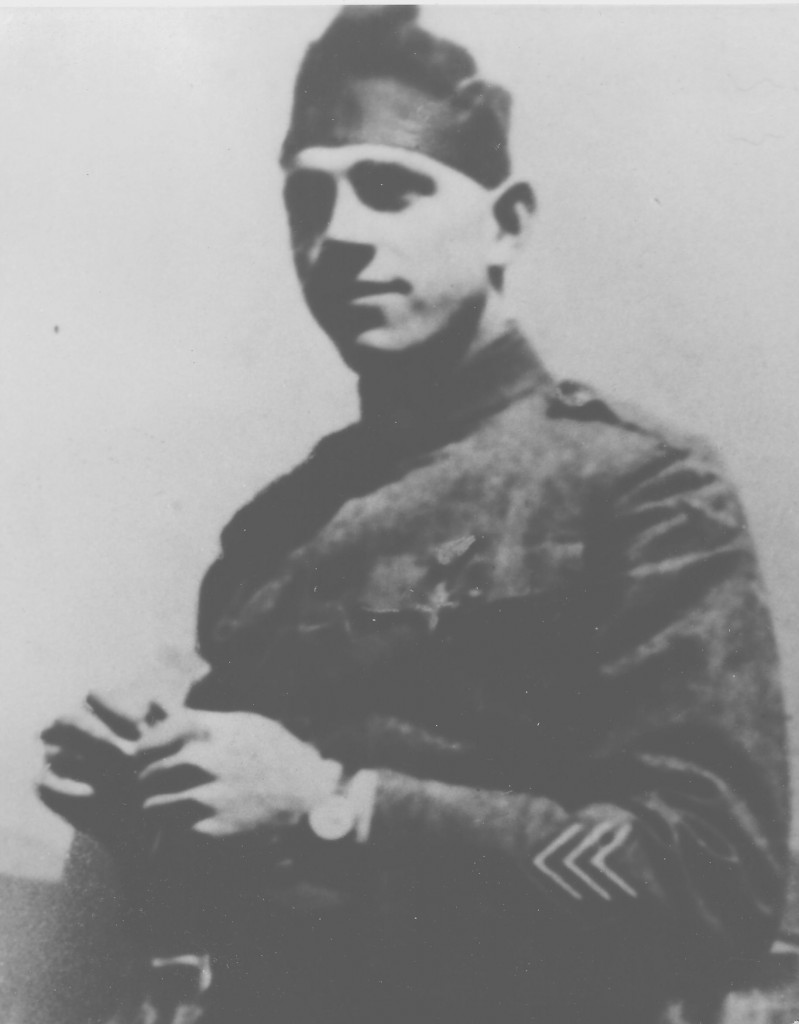 Corporal Moan, shown here in uniform after the Armistice, was awarded the Distinguished Service Cross for his actions under fire as message runner during the Meuse-Argonne campaign in October 1918. (Photograph courtesy of the Ralph T. Moan Family)