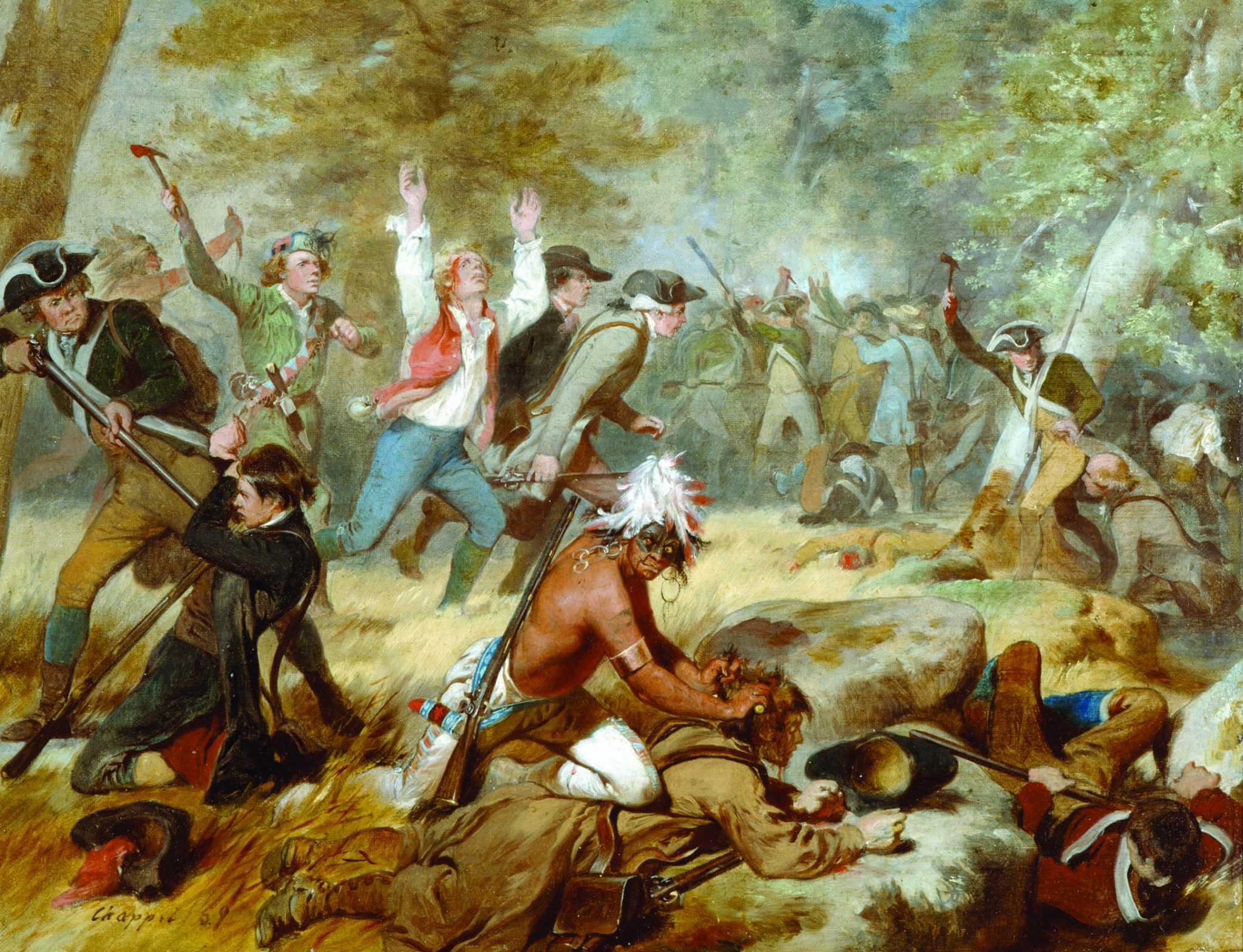 "On 3 July 1778, Indian and Loyalist forces attacked American militiamen at  Wyoming Valley, Pennsylvania. In the ensuing battle, dubbed the ""Wyoming  Valley ..."